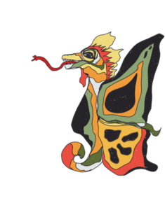 Funny butterdragon