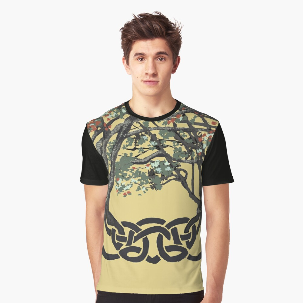Celtic Trees of Life by KC Hill on Graphic T-shirt